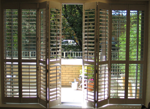 height patio door shutters on a tracking system 63mm